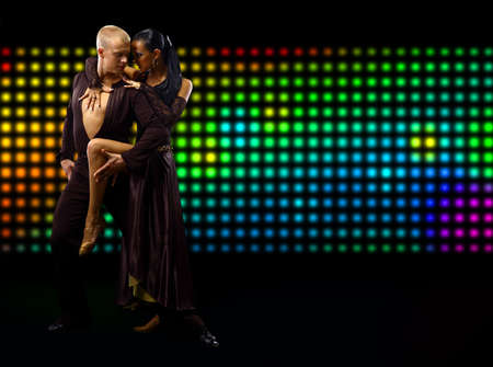 Tango couple dancing  photo