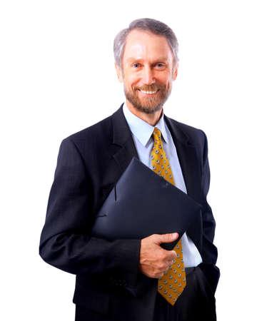 bacground: businessman isolated on white bacground