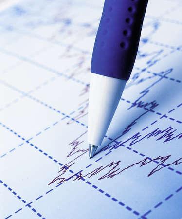 Stock market graphs and charts photo