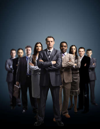 Young attractive business people photo
