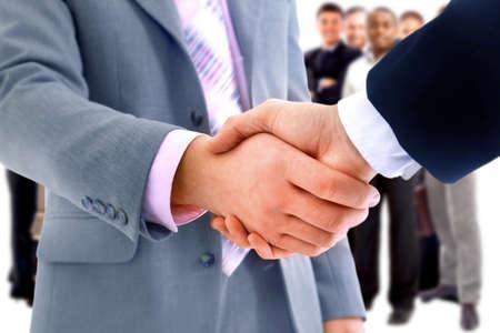 succesful: handshake isolated on business background