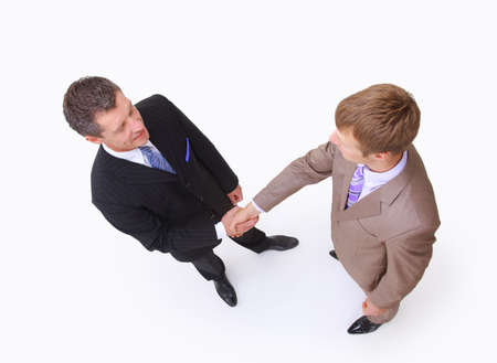 handshake isolated on white background  photo