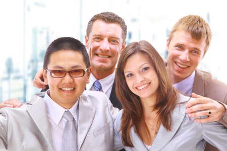 businessteam: businessteam in offece  Stock Photo