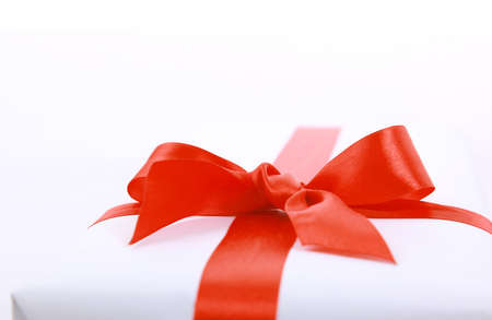 gift giving: gift isolated on white background Stock Photo