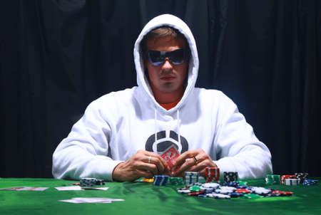 attired: Cool poker player