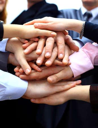 team working together: teamwork Stock Photo