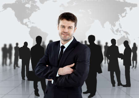 team working together: Group of business people