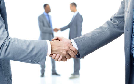 sales executive: two handshakes