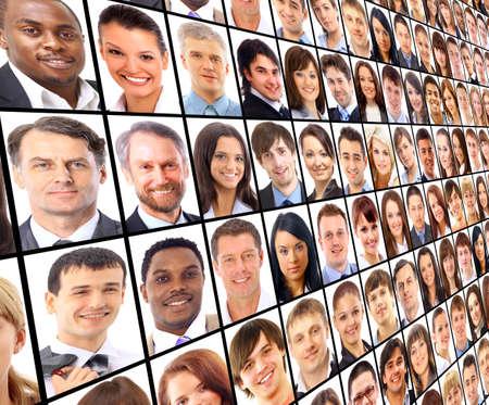 personas: Muchos de los retratos aislados de personas Foto de archivo