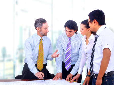 Happy successful business people in a meeting  Stock Photo - 22062291