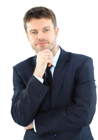 Portret van een succesvolle zakelijke volwassen man Stockfoto