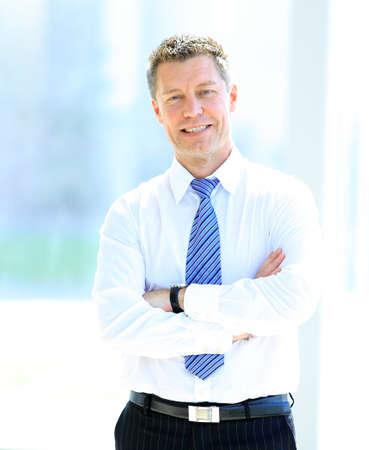 Smiling mittleren Alters Gesch?ftsmann Standard-Bild