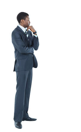 formal wear clothing: Young African American Male Model on Isolated Background