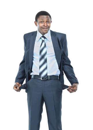 empty pockets: Man showing his empty pockets