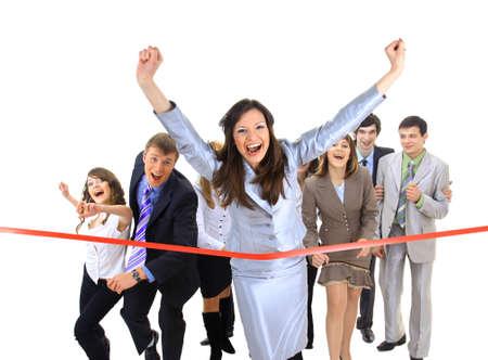 end line: Empresarios de cruzar la l�nea de meta