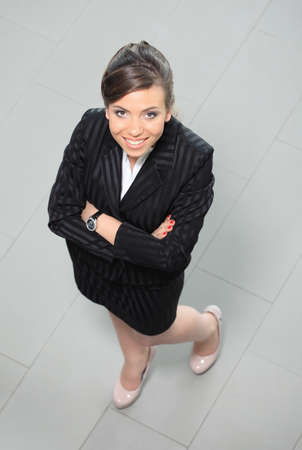 business woman. Top view photo
