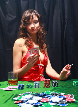 Sexy young girl in casino  photo
