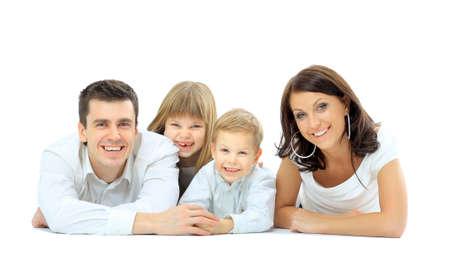 Glückliche Familie mit Standard-Bild - 22335424