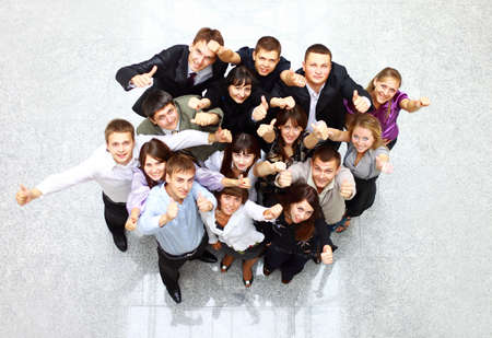 Large group of business people. Over white background  photo