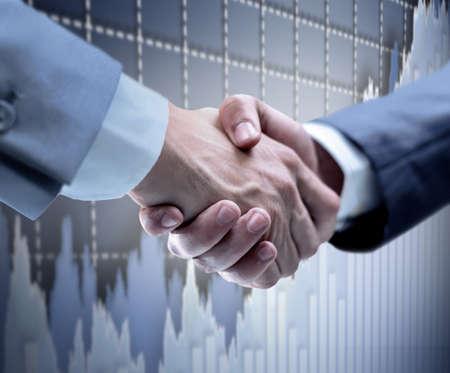 Handshake - Hand die op een zwarte achtergrond