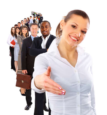 client meeting: businesswoman and shis team  Stock Photo