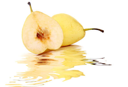 Whole and half pear  photo