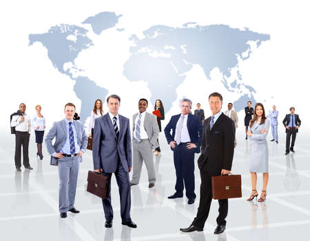 team success: Young attractive business people - the elite business team