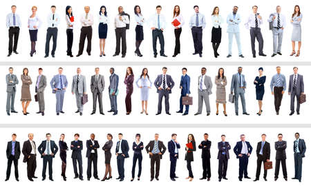 people in office: collection of full length portraits of business people Stock Photo