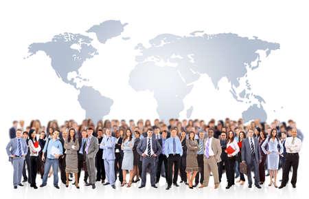 many people: Joven atractivo para las empresas de personas - el equipo de elite de negocios  Foto de archivo