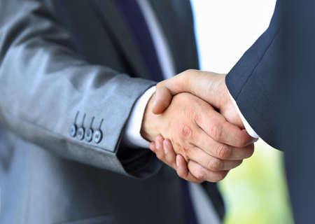 wealth: handshake in office