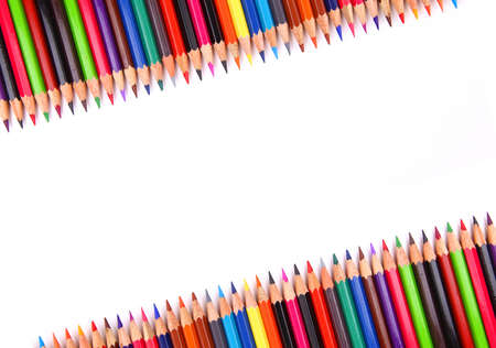 color pencil isolated on white photo