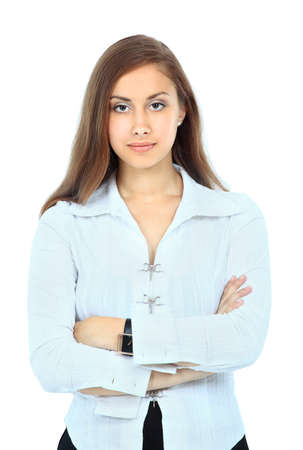Beautiful businesswoman isolated on white  photo