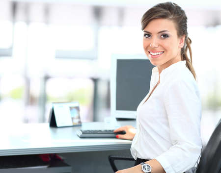 one to one meeting: Modern business woman in the office