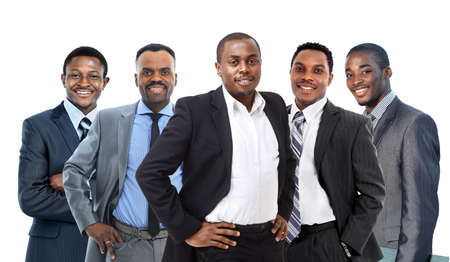 mujeres africanas: Afroamericano joven hombre de negocios que lleva un equipo