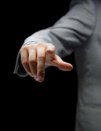 break through: Hand pointing
