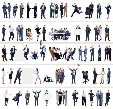 colección de retratos de cuerpo entero de la gente de negocios Foto de archivo