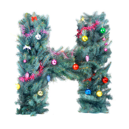 Christmas Alphabet isolated on white photo