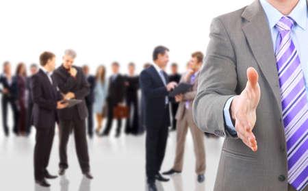handshake and team
