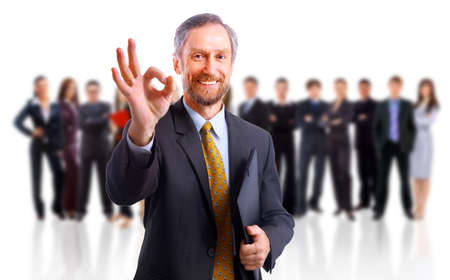 co workers: happy businessman Stock Photo