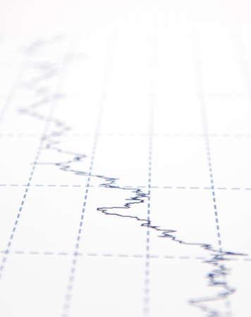 financial newspaper: financial graph