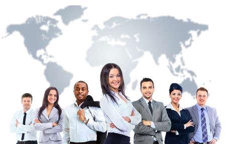 若い魅力的なビジネス人々 - エリート ビジネス チーム