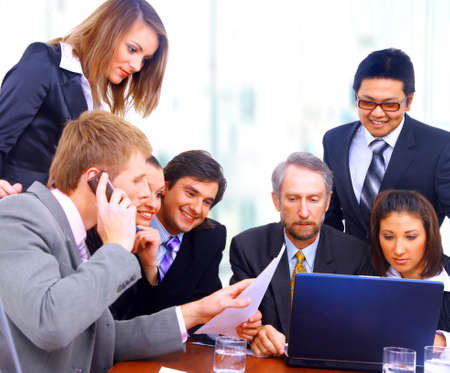 businessteam in offece Stock Photo - 23224510