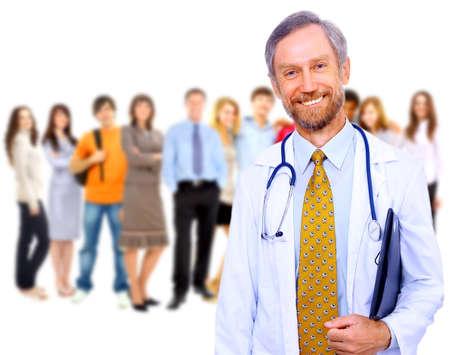 Beautiful senior doctor with stethoscope  photo