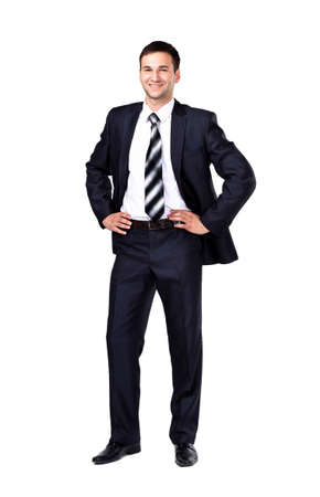 Portrait of a business man isolated on white background photo