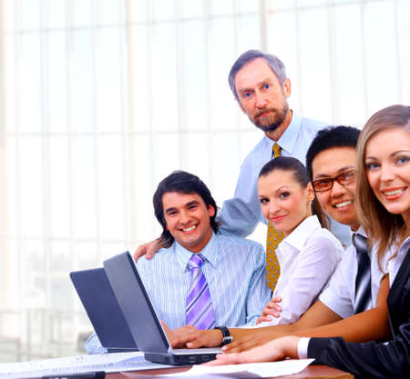 businessteam in offece Stock Photo - 24041358