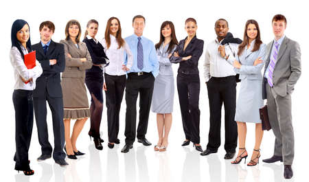 businessteamwork: Young attractive business people - the elite business team  Stock Photo