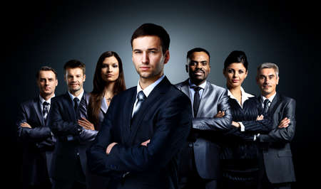 group leader: Group of business people