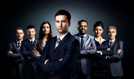 lideres: Grupo de gente de negocios