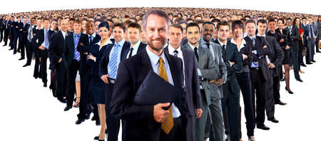 Large group of businesspeople photo
