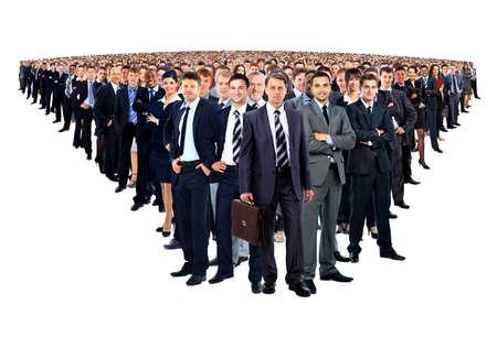 Grand groupe de gens d'affaires